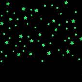 Набор звезд в комнату100 штук. Светятся