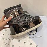 Лунаходы Чіара Феррани Chiara Ferragni оригінальні колір бронза натуральні, фото 2