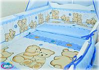Защита и набор постельки из 3х ед в детскую кроватку. серия Organic Cotton