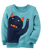 Кофта свитшот Carters на мальчика 2-5 лет Monster Sweatshirt