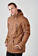 Мужская демисезонная длинная куртка 4010/2, фото 1
