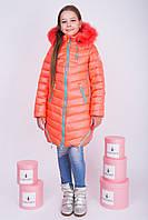 "Зимняя куртка для девочки ""RIO"" розовый неон"