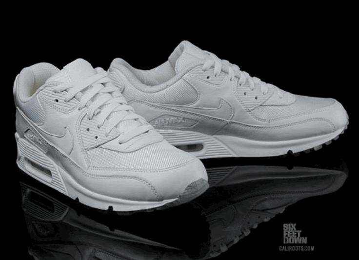 9f4338d6ed12 Кроссовки Nike Air Max 90 Premium White Metallic Silver - Интернет-магазин
