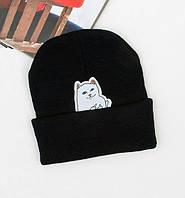 ✔️ Черная шапка Rip n dip