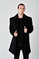 Длинное мужское зимнее пальто из кашемира с мехом 4019, фото 1