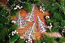 """Новогоднее украшение """"Елочка завиток"""" микс, фото 3"""
