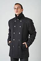 Классическое длинное мужское пальто 4023