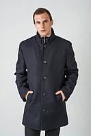 Длинное мужское пальто из кашемира утепленное пристежной манишкой 4024, фото 1