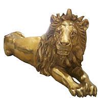 Статуя напольная Sri Ram Export Лев из бронзы 63 х 130 х 42 см 041187