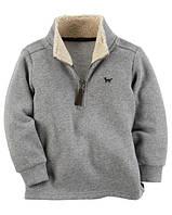 Теплый свитер Carters на мальчика 2-5 лет Fleece Zip-Up Sweater