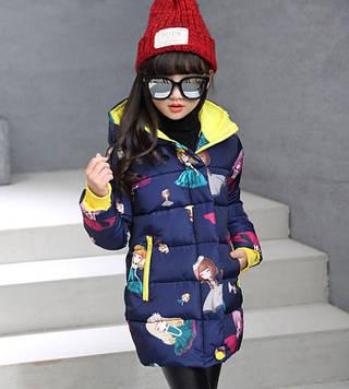"""Детская теплая демисезонная куртка для девочки """"Куколка"""""""