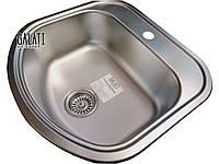 Кухонная мойка 49*47 врезная декорированная металл 0,8 мм Galaţi Vayorika Textură