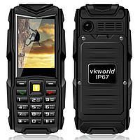 """Защищенный телефон Vkworld Stone V3 NEW  black черный IP54 (3SIM) 2,4"""" 1,3Мп оригинал Гарантия!"""