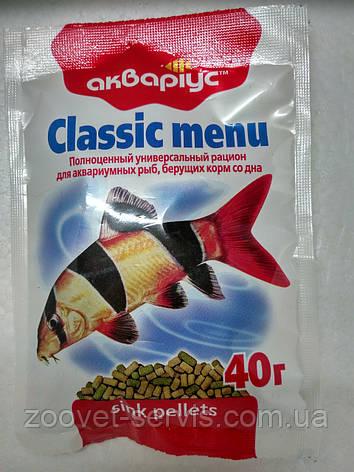 АКВАРИУС Классик меню, тонущий, 40 г 40 г, фото 2