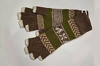 Перчатки (митенки) женские, удлинённые, шерстяные