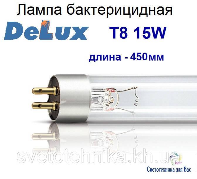 Люминесцентная лампа бактерицидная Delux Т8 15W G13