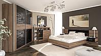 Фиеста спальня Мебель-Сервис дсп в цвете десира аш темная