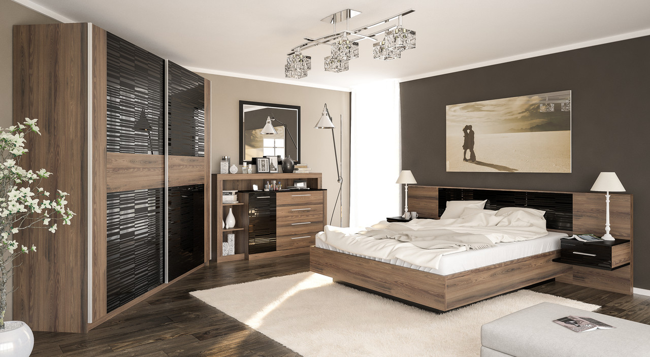 фиеста спальня мебель сервис дсп в цвете десира аш темная цена 17