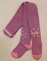 Теплые колготки для малышей с рисунком светло-фиолетового цвета
