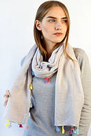 Очаровательный однотонный шарф Лия