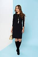 Стильное черное женское платье Каприз ТМ Arizzo 44-52 размеры