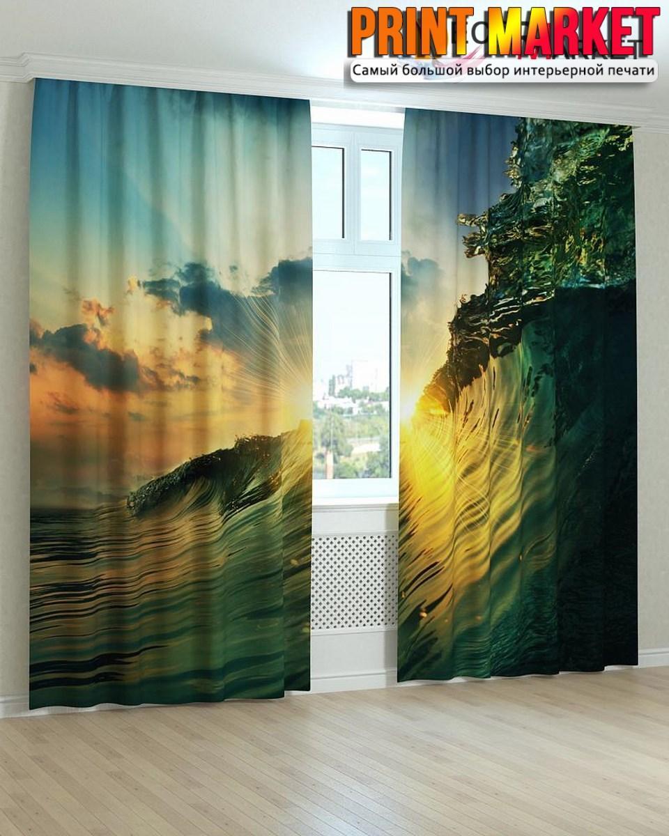 Фотошторы волна и солнце