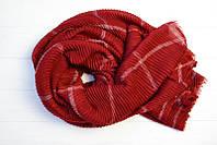 Легкий весенний однотонный шарф