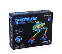 "Конструктор светящийся на 63 детали ""Роботы"" Crystaland lighted brix ""4 в 1"" 99017"