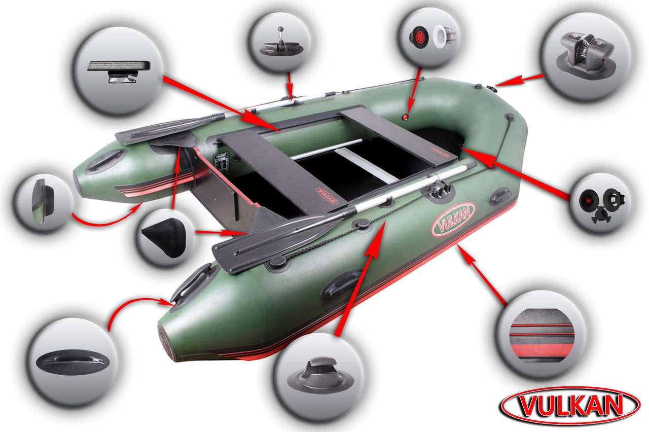Лодка с надувным килем Вулкан VMK330(PS) купить в Харькове