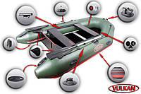 Акция! Мощная моторная лодка с надувным килем Вулкан VMK330(PS) купить в Харькове