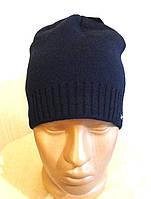 Вязанная мужская шапка размер 56-58
