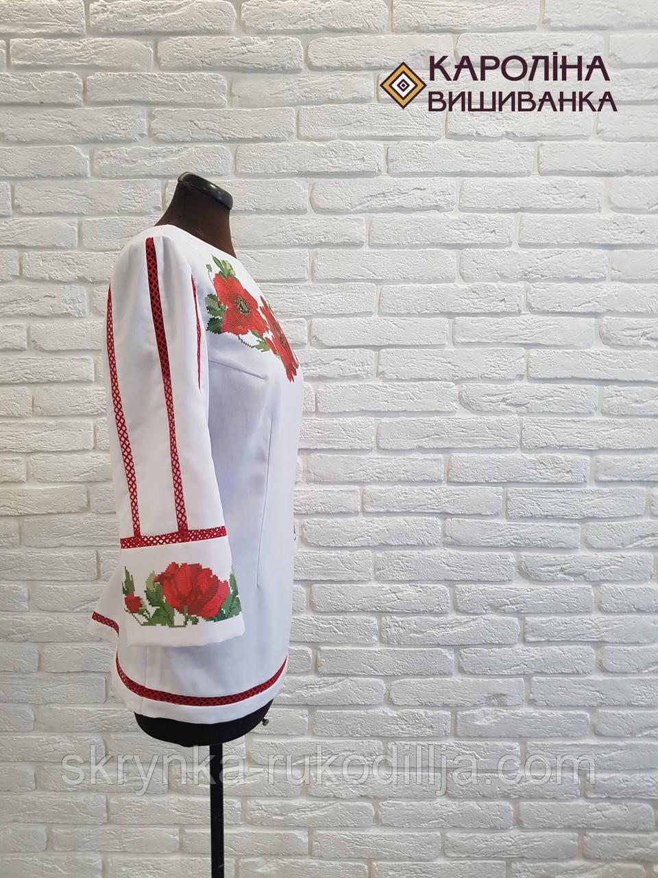 ... фото Заготовка непошита для вишивання бісером або нитками жіночої  сорочки вишиванки