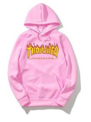 Розовый худи свитшот Thrasher