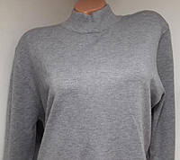 Женский гольф большого размера стойка, цвет серый, фото 1