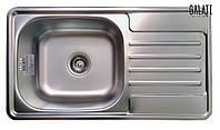 Кухонная мойка врезная 7642 см Galaţi Milana Textura декорированная металл 0,8 мм