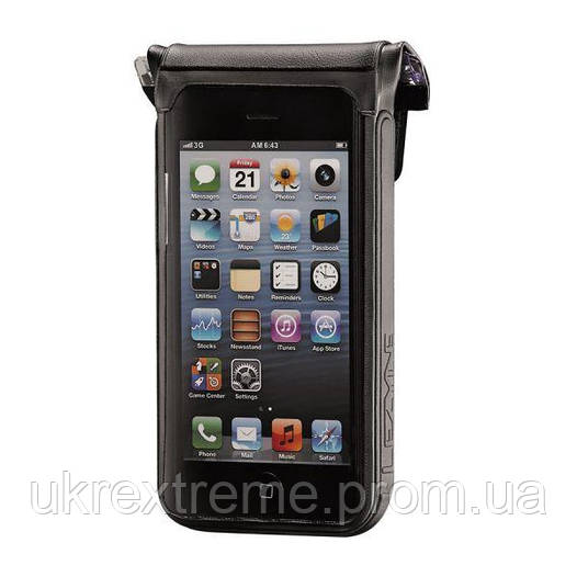 Органайзер LEZYNE SMART DRY CADDY 4S, WATER PROOF PHONE CADDY, WORKS WITH IPHONE 5/5C/5S, QR MOUNTING BRACKET, черный (ОРИГИНАЛ)
