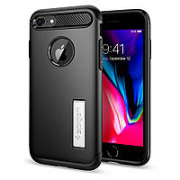 Чехол Spigen для iPhone 8 Slim Armor, Black, фото 1