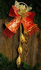Колокол новогодний  очень большой золото 0286