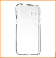 Силиконовый чехол DIGI TPU на Samsung Galaxy A3 (2017) SM-A320 Clean Grid Transparent