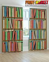 Фотошторы полки с книгами