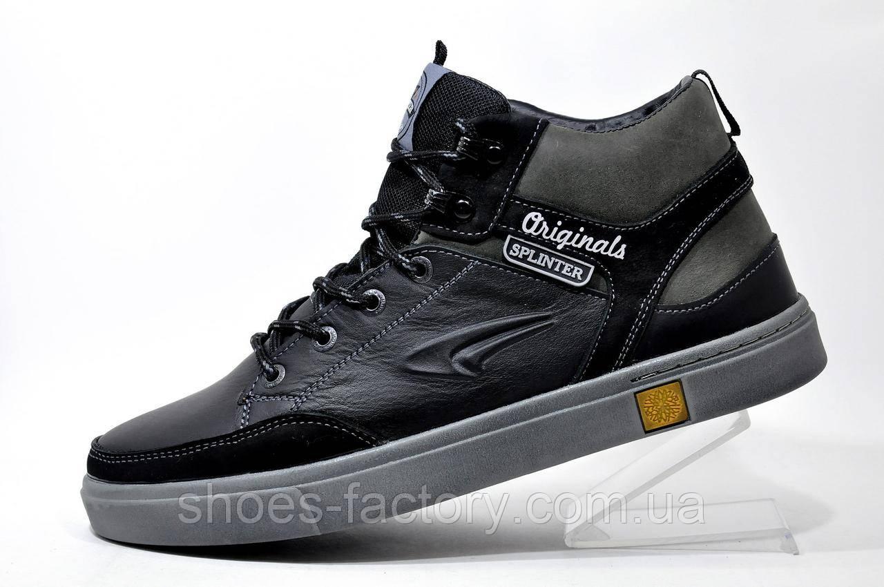 Кожаные ботинки Splinter, зимние с мехом