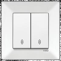 Выключатель 2-й проходной Vico Meridian белый