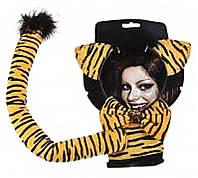Карнавальный Набор Образ Кошечки Универсальный Аксессуар Ушки Хвост Бабочка для Вечеринки Маскарад
