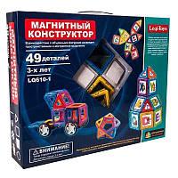 Магнітний конструктор Leqi-Toys LQ610-1 (49 деталей), фото 1