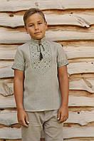 Вышитая рубашка на мальчика ДМ16к-236