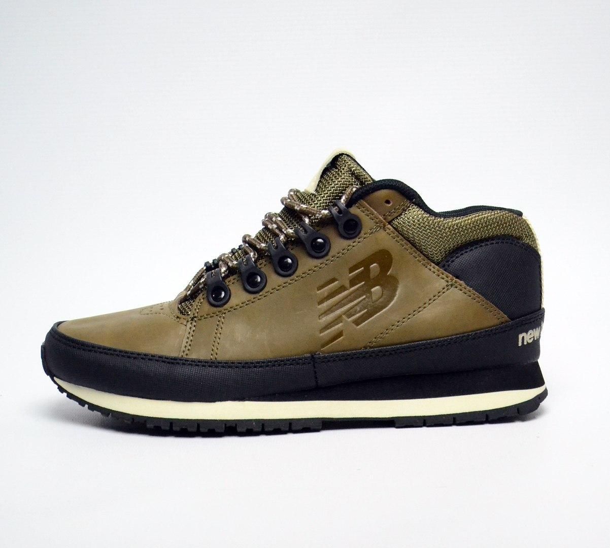 Мужские кроссовки New Balance 754 Winter Shoes коричневые топ реплика