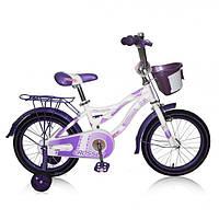 """Детский велосипед CROSSER KIDDY 16""""  Белый/фиолетовый"""