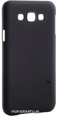 Nillkin Super Frosted Shield ластиковый чехол-накладка для Samsung E7/E700 Черный