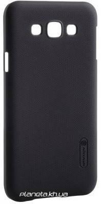 Nillkin Super Frosted Shield ластиковый чехол-накладка для Samsung E7/E700 Черный, фото 2