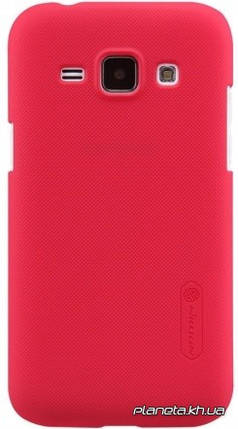 Nillkin Super Frosted Shield пластиковый чехол-накладка для Samsung E7/E700 Красный, фото 2